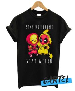 Deadpool and Pooh Stay Different Stay Weird awesome T Shirt