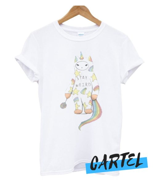 Stay Weird With Love From Unicorn Cat awesome T-Shirt