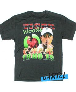 Tiger Woods 18 Holes awesome T shirt