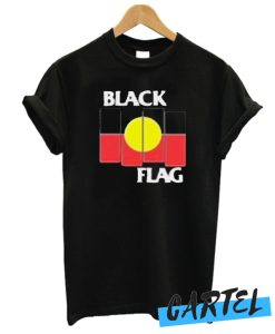 Black Flag X Aboriginal Flag awesome T-Shirt