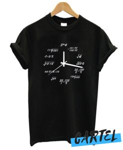 math formula clock awesome t shirt