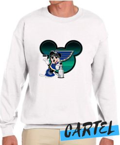 NHL St.Louis Blues Stanley Cup Mickey Mouse Disney Hockey awesome Sweatshirt