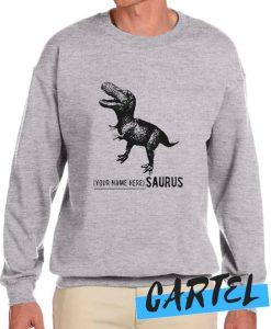Name Personalized Dinosaur awesome Sweatshirt