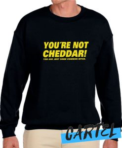 You're Not Cheddar awesome Sweatshirt