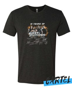 18 Years of Fast and Furious 2001 2019 awesome tshirt