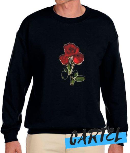 3 red rose awesome Sweatshirt