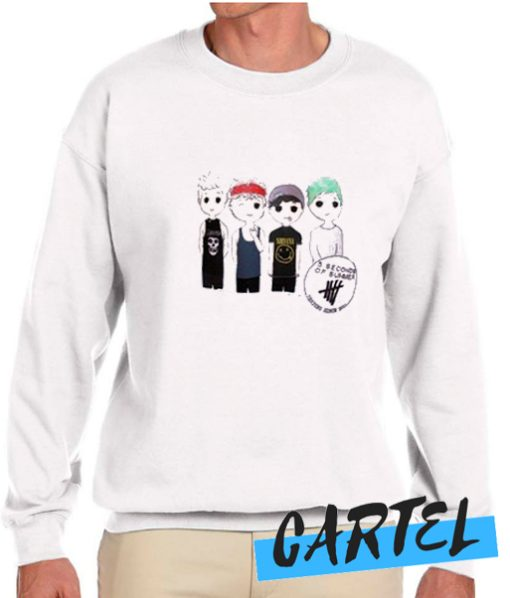 5 seconds of summer shirt awesome Sweatshirt