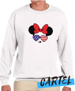 American Flag Mouse 4th Of July awesome Sweatshirt