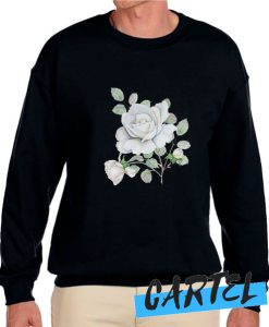 White Roses Watercolor Flowers awesome Sweatshirt