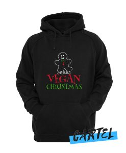 cookie man vegan christmas awesome Hoodie