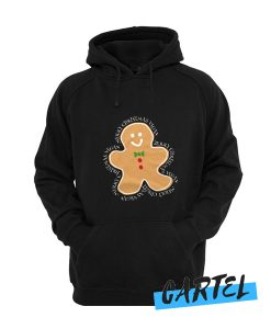 cookie man vegan merry christmas awesome Hoodie