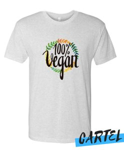 100% Vegan Wreath awesome T Shirt