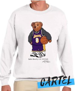 Vintage NBA Kobe Bryant Polo Bear awesome Sweatshirt