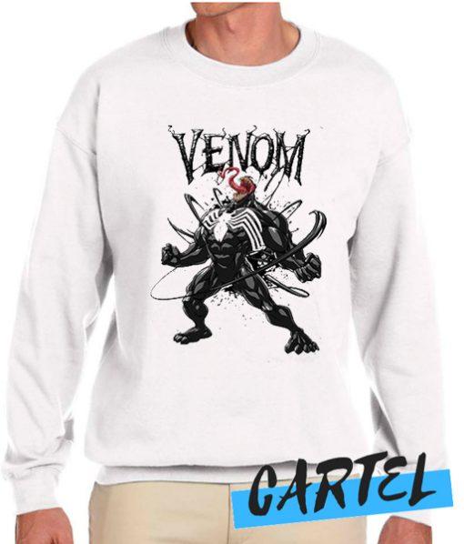 Venom White & Black Sweatshirt