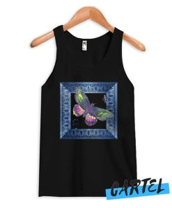 Butterfly Blue art frame Tank Top
