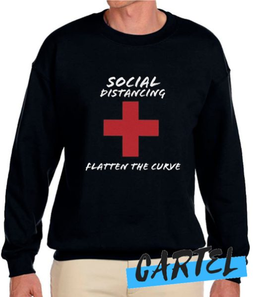Social Distancing Flatten the Curve Sweatshirt