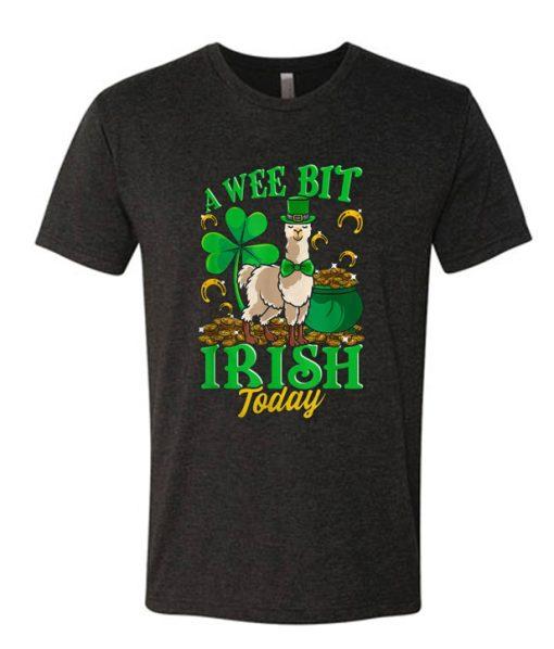 A Wee Bit Irish Today Llama Leprechaun St Patricks Day DH T shirt
