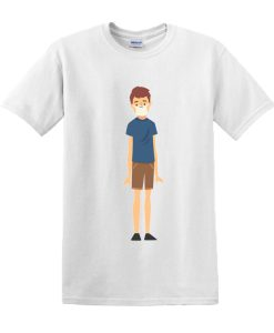 Young boy in medical mask cartoon DH T-Shirt