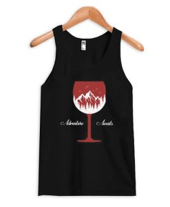 Adventure Awaits Wine - Wine Lover Tank Top